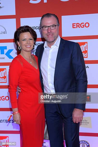 Clemens Toennies and Margit Toennies attend the Sport Bild Award at the Fischauktionshalle on August 29 2016 in Hamburg Germany