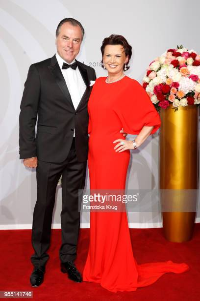 Clemens Toennies and Margit Toennies during the Rosenball charity event at Hotel Intercontinental on May 5, 2018 in Berlin, Germany.