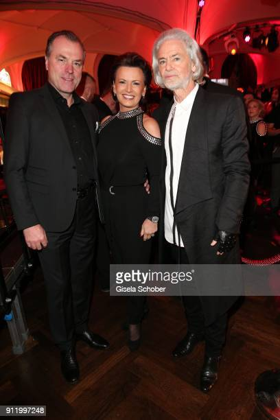 Clemens Toennies his wife Margit Toennies and Hermann Buehlbecker during the 20th Lambertz Monday Night 2018 at Alter Wartesaal on January 29 2018 in...