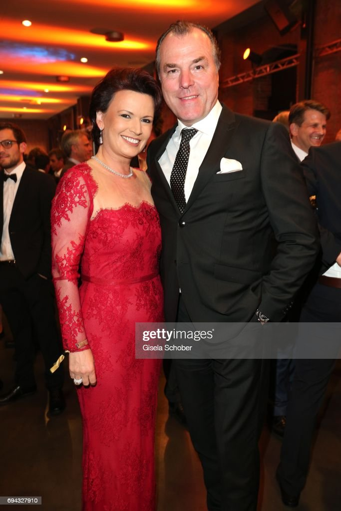 Clemens Toennies Manager Of Schalke 04 And His Wife Margit