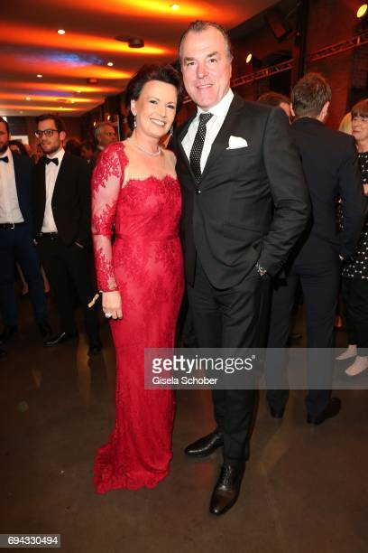 Clemens Toennies manager of Schalke 04 and his wife Margit Toennies during the Toni Kroos charity gala benefit to the Toni Kroos Foundation at 'The...