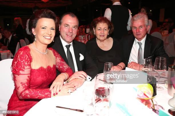 Clemens Toennies, manager of Schalke 04, and his wife Margit Toennies, Jupp Heynckes and his wife Iris Heynckes during the Toni Kroos charity gala...