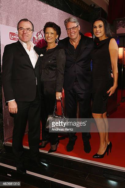 Clemens Toennies with his wife Margit Toennies and Heiner and Ela Kamps arrive for the Lambertz Monday Night 2015 at Alter Wartesaal on February 2,...