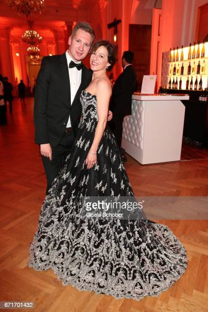 Clemens Trischler and Julia Cencig during the ROMY award at Hofburg Vienna on April 22 2017 in Vienna Austria