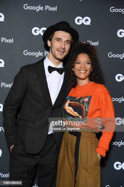 Clement Chabernaud GQ French Model of the Decade and a guest attend GQ Men Of The Year Awards 2018 at Centre Pompidou on November 19 2018 in Paris...