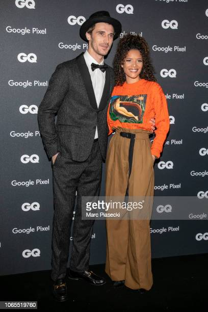 Clement Chabernaud GQ French Model of the Decade and a guest attend GQ Men Of The Year Awards 2018 at Centre Pompidou on November 26 2018 in Paris...