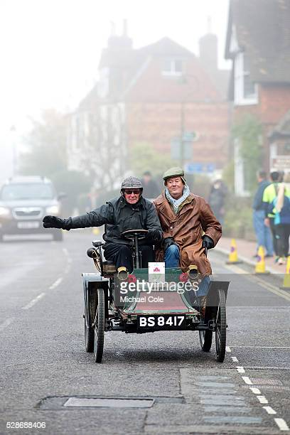 Clement driven by Mike Sewell through the village of Cuckfield en route to Brighton