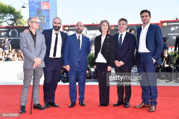 Clement Duboin Andrea Stucovitz Charlotte Rampling Paolo Del Brocco and Andrea Pallaoro walk the red carpet ahead of the 'Hannah' screening during...