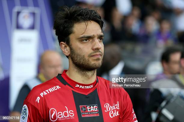 Clement Grenier of Guingamp looks on before the Ligue 1 match between Toulouse and EA Guingamp at Stadium Municipal on May 19 2018 in Toulouse