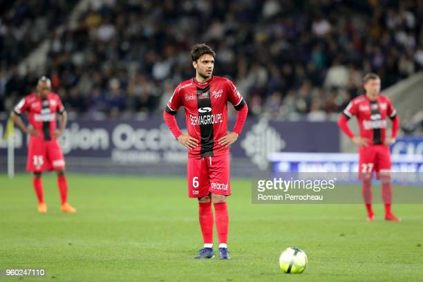 Clement Grenier of Guingamp looks on during the Ligue 1 match between Toulouse and EA Guingamp at Stadium Municipal on May 19 2018 in Toulouse