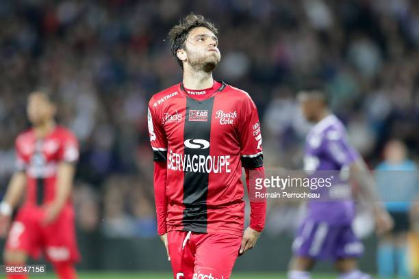 Clement Grenier of Guingamp reacts during the Ligue 1 match between Toulouse and EA Guingamp at Stadium Municipal on May 19 2018 in Toulouse