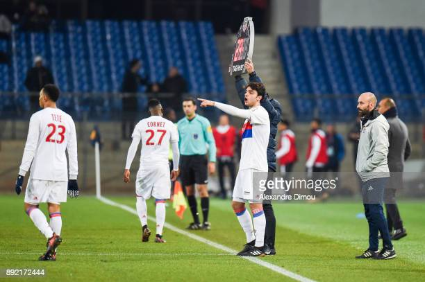 Clement Grenier of Lyon during the french League Cup match Round of 16 between Montpellier and Lyon on December 13 2017 in Montpellier France