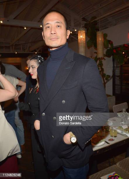 Clement Kwan attends Liz Goldwyn and MATCHESFASHIONCOM celebrate the launch of Frieze LA at Gracias Madre on February 13 2019 in West Hollywood...