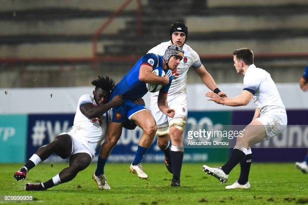 Clement Laporte of France during the RBS Six Nations match between France and England at Stade de la Mediterranee on March 9 2018 in Beziers France