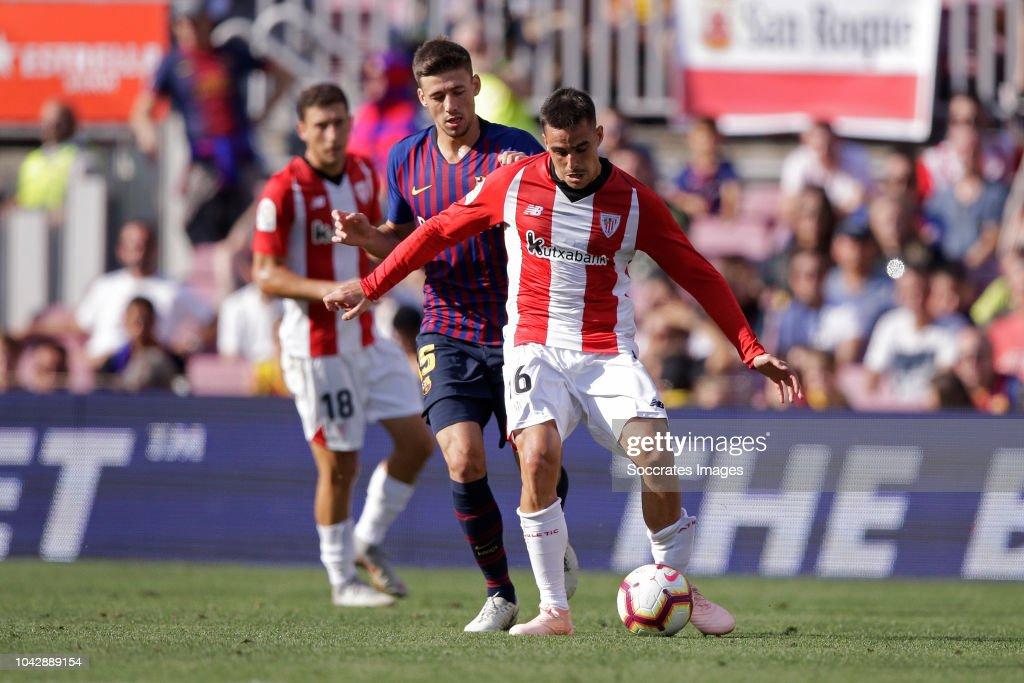 Clement Lenglet of FC Barcelona, Dani Garcia of Athletic ...