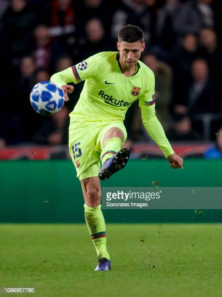 Clement Lenglet of FC Barcelona during the UEFA Champions League match between PSV v FC Barcelona at the Philips Stadium on November 28 2018 in...