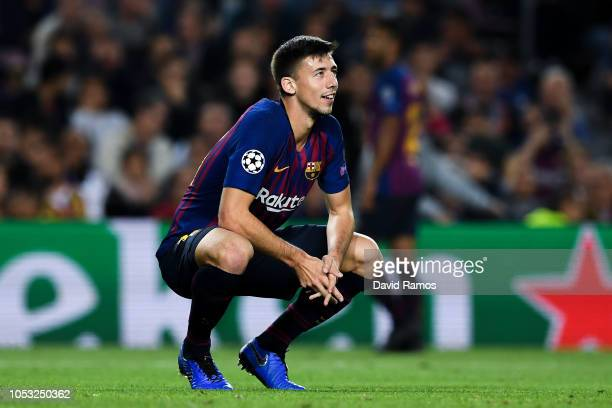 Clement Lenglet of FC Barcelona looks on during the Group B match of the UEFA Champions League between FC Barcelona and FC Internazionale at Camp Nou...