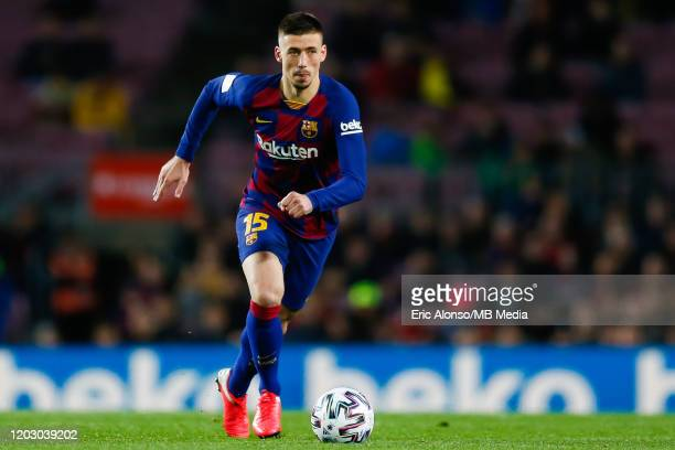 Clement Lenglet of FC Barcelona runs with the ball during the Copa del Rey round of 16 match between Barcelona and Leganes at Camp Nou on January 30...