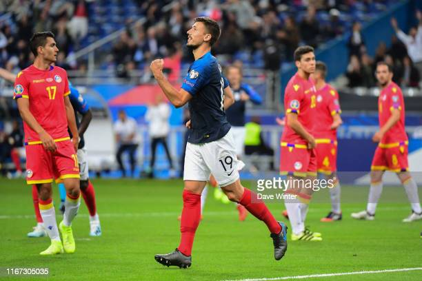 Clement Lenglet of France celebrates putting his side 2-0 ahead during the UEFA European Championship 2020 qualifying match between France and...