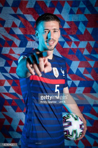 Clement Lenglet of France poses during the official UEFA Euro 2020 media access day on June 10, 2021 in Rambouillet, France.