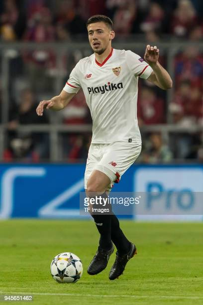 Clement Lenglet of Sevilla controls the ball during the UEFA Champions League quarter final second leg match between Bayern Muenchen and Sevilla FC...