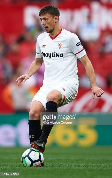 Clement Lenglet of Sevilla FC in action during the La Liga match between Sevilla and Athletic Club at Estadio Ramon Sanchez Pizjuan on March 3 2018...