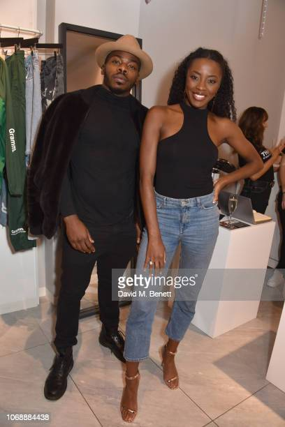 Clement Marfo and AJ Odudu attend the opening of 'The Drop' the UK's first streetwear rental space with all profits going towards Save the Children's...