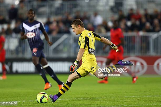 Clement Maury of Ajaccio during the French Ligue 1 match between FC Girondins de Bordeaux v GFC Ajaccio at Stade Chaban Delmas on March 5 2016 in...