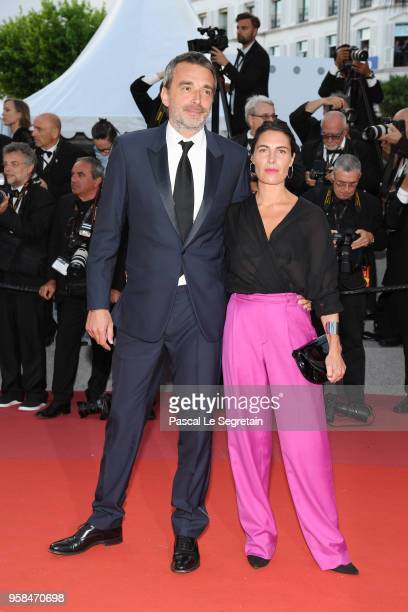Clement Miserez and Alessandra Sublet attend the screening of Sink Or Swim during the 71st annual Cannes Film Festival at Palais des Festivals on May...
