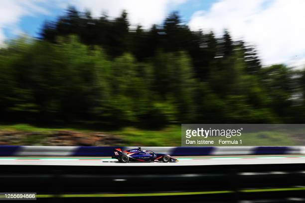 Clement Novalak of Great Britain and Carlin Buzz Racing drives during the sprint race for the Formula 3 Championship at Red Bull Ring on July 12,...