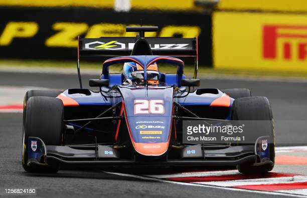 Clement Novalak of Great Britain and Carlin Buzz Racing drives during race one of the the Formula 3 Championship at Hungaroring on July 18, 2020 in...