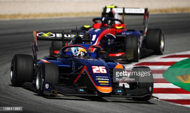 Clement Novalak of Great Britain and Carlin Buzz Racing drives on track during race one of the Formula 3 Championship at Circuit de...