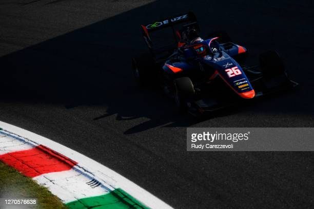 Clement Novalak of Great Britain and Carlin Buzz Racing drives on track during practice for the Formula 3 Championship at Autodromo di Monza on...