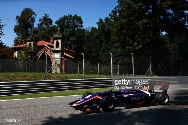Clement Novalak of Great Britain and Carlin Buzz Racing drives on track during qualifying for the Formula 3 Championship at Autodromo di Monza on...