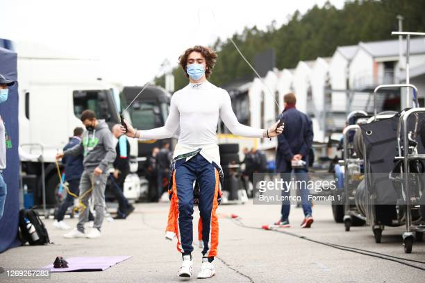 Clement Novalak of Great Britain and Carlin Buzz Racing during practice for the Formula 3 Championship at Circuit de Spa-Francorchamps on August 28,...