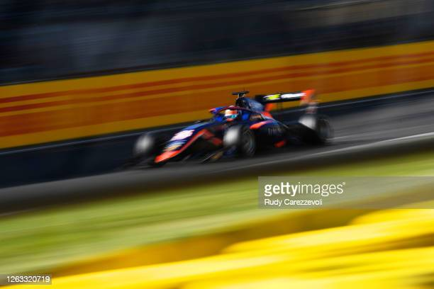 Clement Novalak of Great Britain and Carlin Buzz Racing during race two of the Formula 3 Championship at Silverstone on August 02, 2020 in...