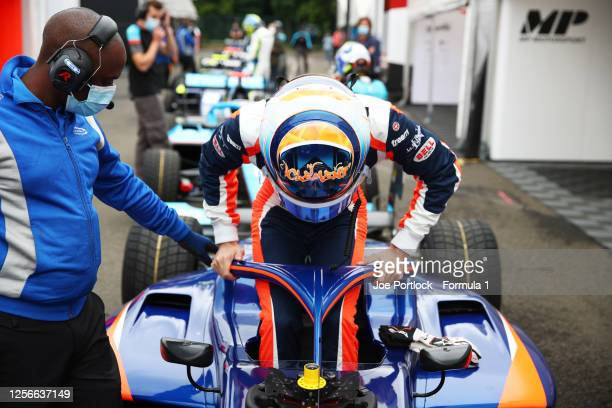 Clement Novalak of Great Britain and Carlin Buzz Racing prepares for practice for the Formula 3 Championship at Hungaroring on July 17, 2020 in...