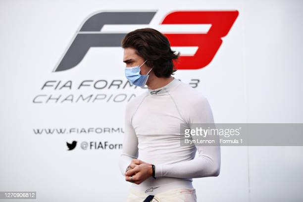 Clement Novalak of Great Britain and Carlin Buzz Racing prepares to drive in the Paddock before race two of the Formula 3 Championship at Autodromo...