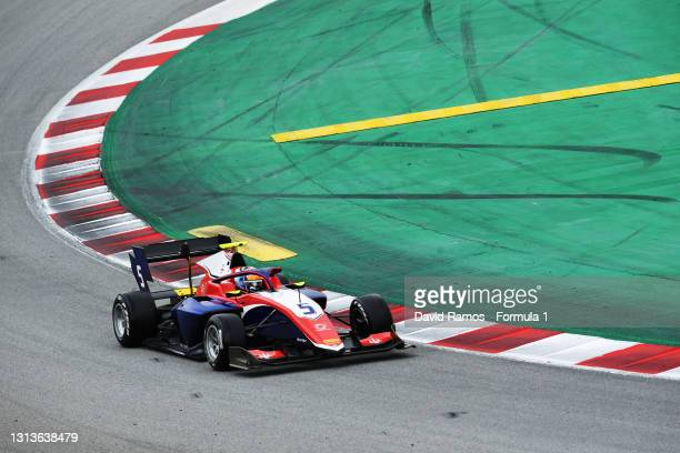 Clement Novalak of Great Britain and Trident drives at Circuit de Barcelona-Catalunya on April 21, 2021 in Barcelona, Spain.