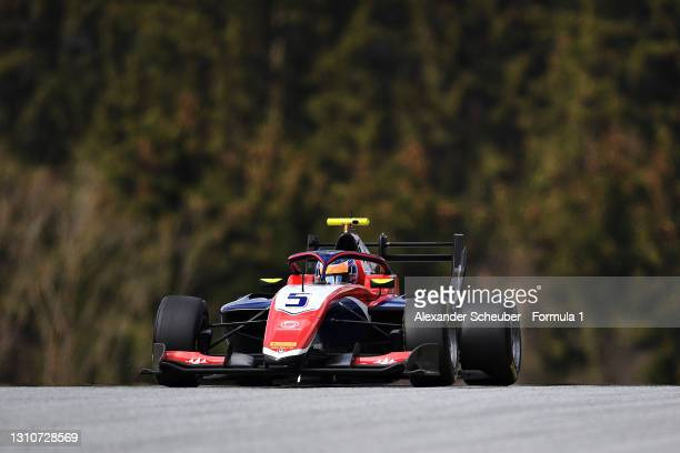 Clement Novalak of Great Britain and Trident drives during Day Two of Formula 3 Testing at Red Bull Ring on April 04, 2021 in Spielberg, Austria.
