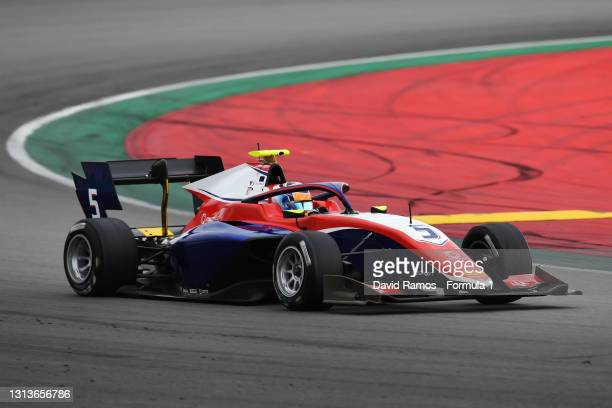 Clement Novalak of Great Britain and Trident drivesat Circuit de Barcelona-Catalunya on April 21, 2021 in Barcelona, Spain.