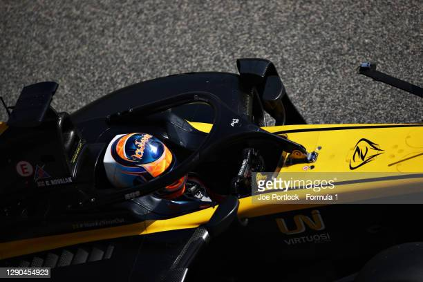 Clement Novalak of Great Britain and UNI-Virtuosi Racing drives in the Pitlane during Day Three of F2 testing at Bahrain International Circuit on...