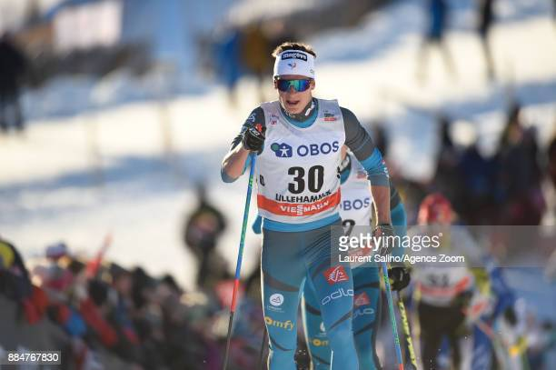 Clement Parisse of France competes during the FIS Nordic World Cup Men's and Women's Cross Country Skiathlon on December 3 2017 in Lillehammer Norway