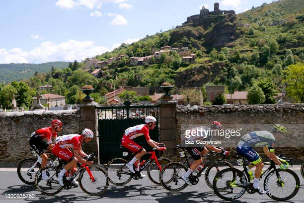 Clement Russo of France and Team Arkéa - Samsic, Pierre-Luc Perichon of France and Team Cofidis, Kenneth Vanbilsen of Belgium and Team Cofidis, Tim...