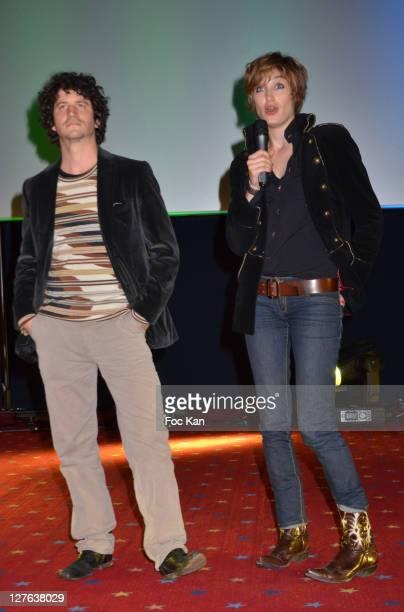 Clement Sibony and Pauline Lefevre attend the 'Festival Du Film de Boulogne Billancourt' 'Voir La Mer' Premiere at Pathe Boulogne on April 3 2011 in...