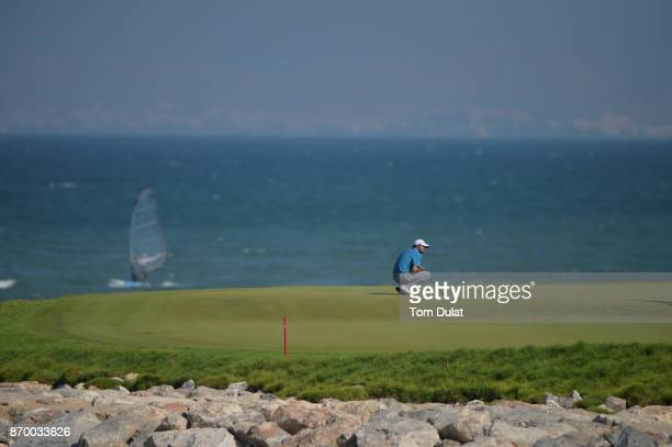 Clement Sordet of France looks on during the final round of the NBO Golf Classic Grand Final at Al Mouj Golf on November 4 2017 in Muscat Oman
