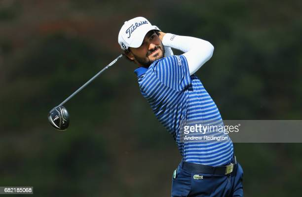 Clement Sordet of France tees off on the 9th hole during day two of the Open de Portugal at Morgado Golf Resort on May 12 2017 in Portimao Portugal