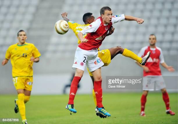 Clement TAINMONT / Chaker ALHADHUR Reims / Nantes Coupe de la Ligue 1er tour Photo Dave Winter / Icon Sport