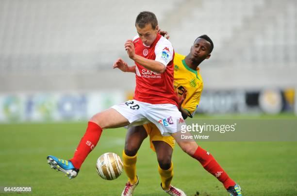 Clement TAINMONT / Chaker ALHADHUR Reims / Nantes Coupe de la Ligue Photo Dave Winter / Icon Sport
