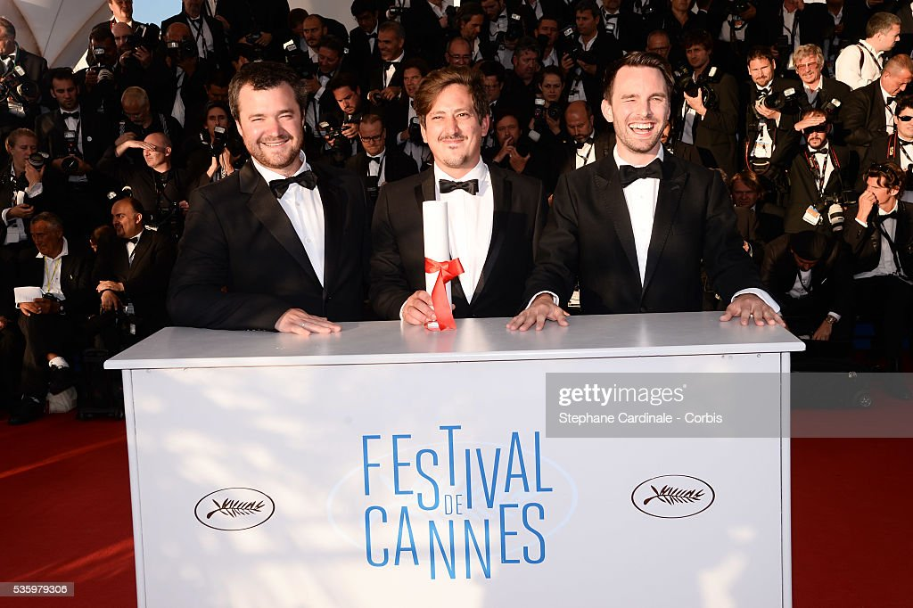 Clement TREHIN- LALANNE, Director Simon Mesa Soto, winner of the Short Film Special Distinction for his film 'Leidi' and Hallvar WITZO at the Winners photocall during 67th Cannes Film Festival
